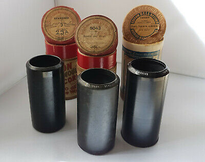 3 EDISON 2 minute phono cylinders:Collins&Harlan/Sam Mayo/Miss Nelson&Mr.Collins