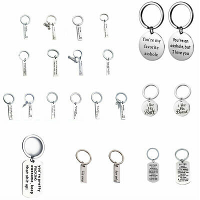 Stainless Steel Custom Engraved Keychain For Car Letters Personalized Keyring