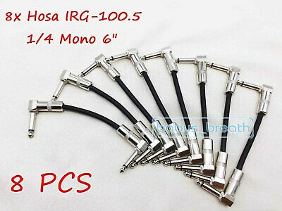 """8 New Hosa IRG-1005 Low Profile Flat Pancake 6/"""" Patch Cables IRG-6005 2"""
