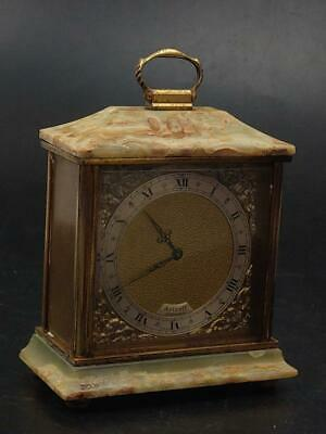 Azizoff of London Green Onyx Clock with Swiss Made Mechanism