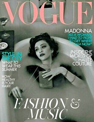 Uk Vogue Magazine June 2019 ~ Madonna Cover & Interview ~ New ~