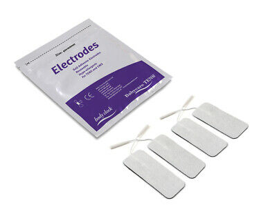 4 Replacement Babycare TENS Electrodes large 40x100mm - ideal for childbirth