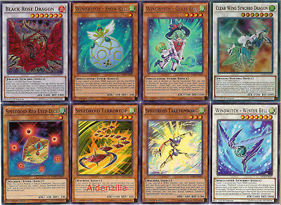 Yugioh Windwitch Speedroid Deck - Glass Bell Snow Terrortop Clear Wing Synchro