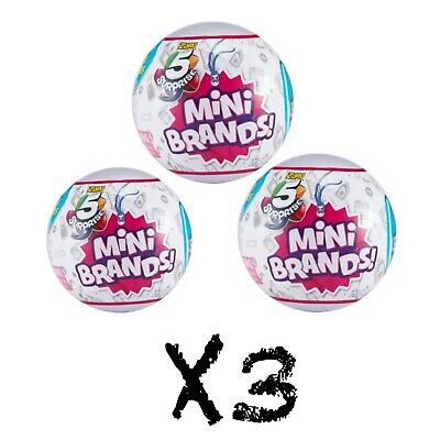 5 Surprise! Mini Brands Made By Zuru X3 Balls 100% Real Authentic - New 2019