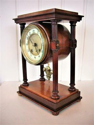 Antique Bell Striking 8-Day Portico Mantel Clock