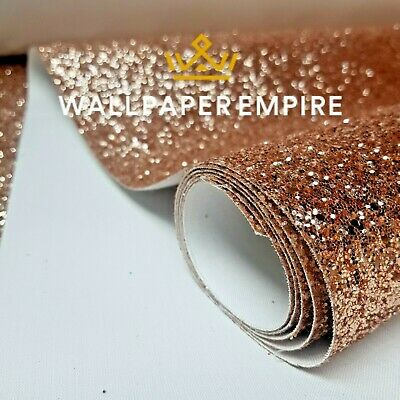 Glitter Wallpaper Premium Quality 3D Fabric Chunky Grade 3 Rose Gold Silver Teal