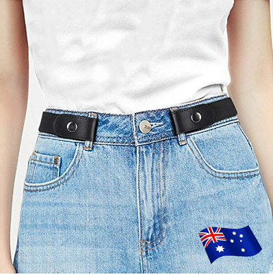 1pc No Buckle Invisible Stretch Belt for Jeans No Bulge No Hassle Waist Belt