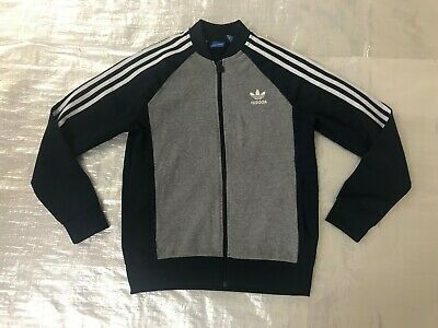 """Boy's """" Adidas Originals """" Navy & White Tracksuit Top - 13-14 Years !"""