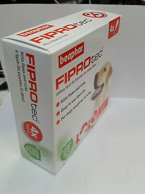 Beaphar Fiprotec Dog Flea Drops Kills Fleas & Ticks Treatment Spot-On Dog's Neck