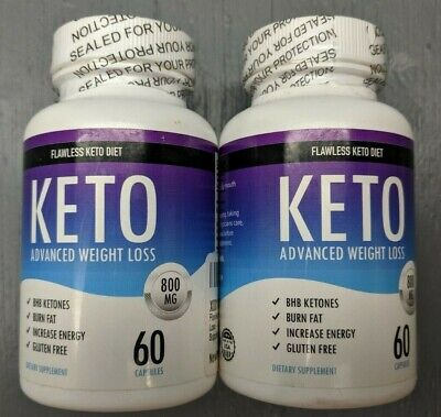 *NEW* 2 Flawless Keto Diet Advanced Weight Loss Supplement 120 Capsules 800mg 7E