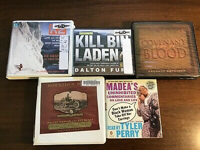 """Lot of 5 Mixed Lot """"Audio Books on CD"""""""