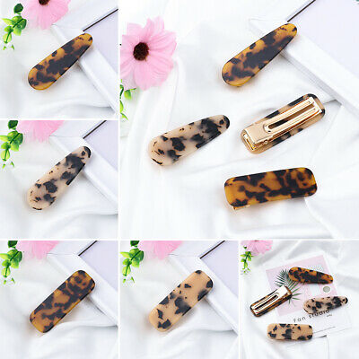 Accessories Acrylic Hair Clips Acetate  Hairgrips  Leopard Hairpins Barrettes