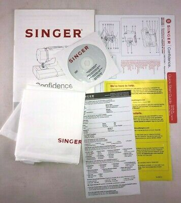ORIGINAL Singer 7470 Sewing Machine COVER Owners Manual, Quick Start Guide & DVD