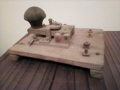 Old wooden Morse code device