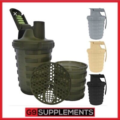 Grenade Protein Powder Shaker Bottle Cup with Removable Storage Capsule 600ml
