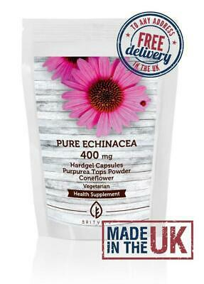 Echinacea 400mg Purpurea Tops Powder180 Capsules BritVits Packet