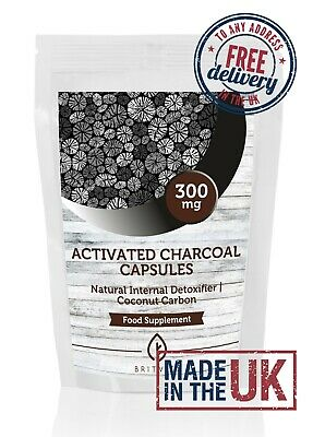 Activated Charcoal 250mg Powder x120 Capsules BritVits Packet
