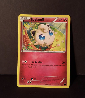 "Jigglypuff ""Body Slam"" Trading Card Signed by Voice Actor Rachael Lillis"