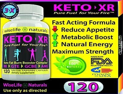 1X Keto XR Slim Pills Weight Loss Burns Fat Fast - Boost Energy -120 Capsules