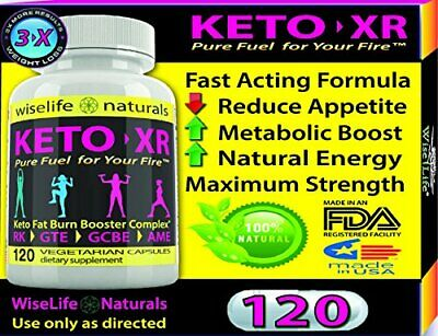 1X KETO XR Slim Fast KETO MCT OIL PURE COCONUT OIL SUPPLEMENT Best Price 120Caps