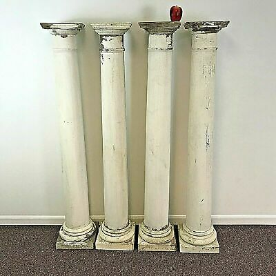 Set of 4 Antique Architectural Salvage Pillars Posts Columns