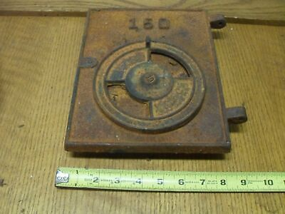 "150  Cast Iron Furnace / Stove door with draft control  8.75"" x 9.75""  (90509-9)"