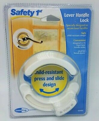 Safety 1st Lever Handle Lock Accommodates Most French Door Style Levers Design