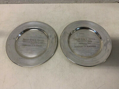 JE Caldwell C Sterling Silver Mastiff Club of America 1960 Dog Show Winner Plate