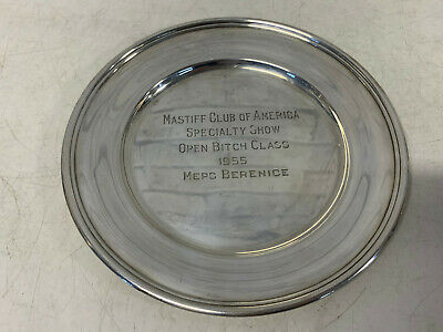 Vintage Randahl Sterling Silver Mastiff Club of America 1955 Specialty Dog Show