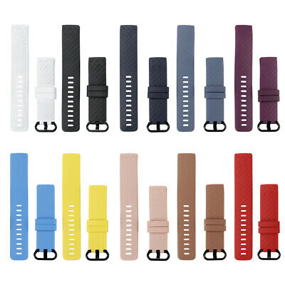 10 Pack Replacement Band for Fitbit Charge 3 S/L Bracelet Watch Rate Fitness