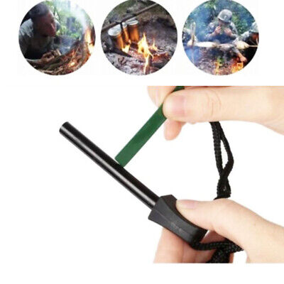 1x Emergency Camping Outdoor Mini Flint Magnesium Fire Starter Stick Rod Tool US