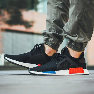 a9abfccba867f Authentic Adidas NMD R1 PK Primeknit OG Boost Corp Black Blue Red Mens Size  6.5