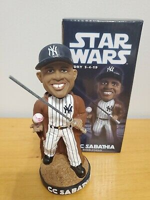 new york yankees cc sabathia jedi bobblehead sga star wars day 5/4/2019