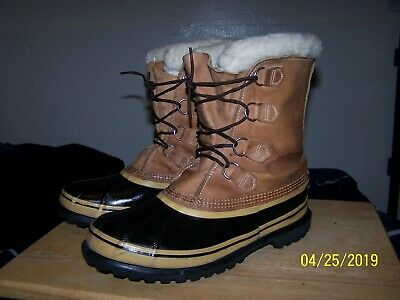 dbe8fa3f8 Sorel Caribou winter snow boots mens 10 arctic canadian leather ice tan