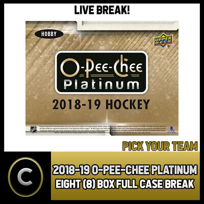 2018-19 O-Pee-Chee Platinum Hockey 8 Box (Case) Break #H359 - Pick Your Team -