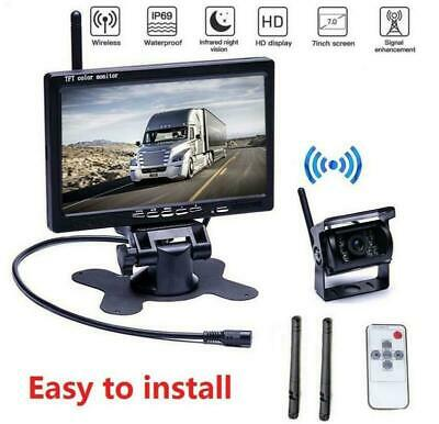 """Wireless IR Rear View Back up Camera Night Vision System+7"""" Monitor for RV Truck"""
