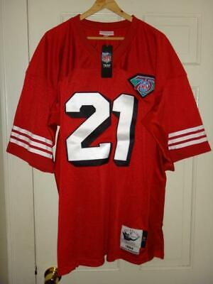 reputable site 69904 bcdd2 100% AUTHENTIC DEION Sanders Mitchell Ness 1994 49ers NFL ...