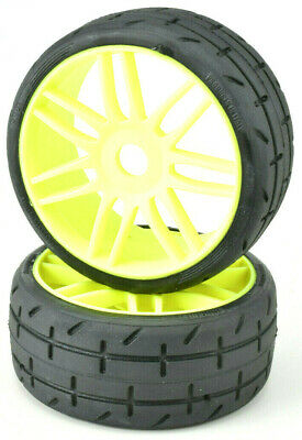 1:8 GRP GTY01-S1 XX SOFT 2 Rubber GT Treaded Tires  Yellow  Rims FREE SHIP
