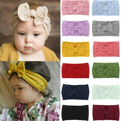 1Pc Cute Baby Kids Girls Toddler Infant Bowknot Headband Hairband Headwear