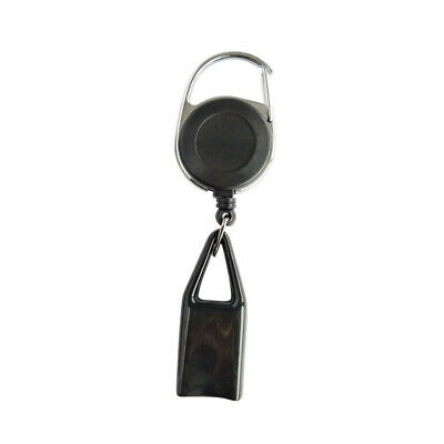 Retractable Lighter Leash Clip Keychain Holder Rubber Cover Large Maxi Bic Black