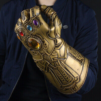 Avengers Infinity War Infinity Gauntlet LED Light Thanos Gloves Cosplay Prop c6b