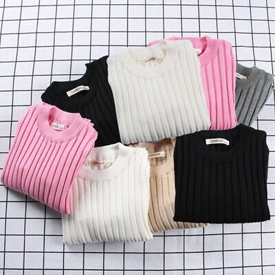 Kids Girl Winter Warm Coat Baby Knit Sweater Knitwear Pullover Tops Clothes AU