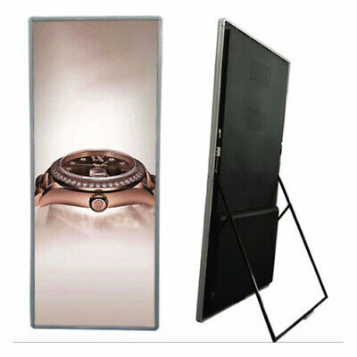 rgb P2.5 led poster stand wireless commercial advertising display screen board