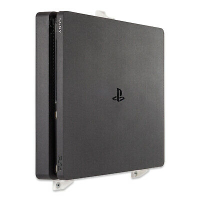 Wall Mount for Playstation 4 PS4 Slim Game Console - White