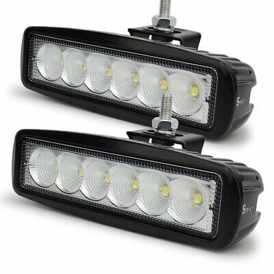 """6""""inch 60W Cree LED Work Driving Lights Flood Beam Lamps Reverse Offroad 4x4 2pc"""