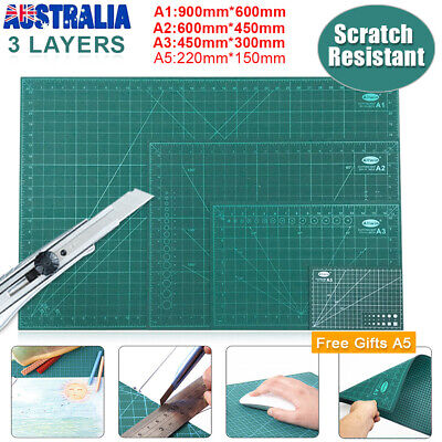 A1 A2 A3 Cutting Mat Double Sided Self-Healing Matt Board Craft Art + Free A5 AU