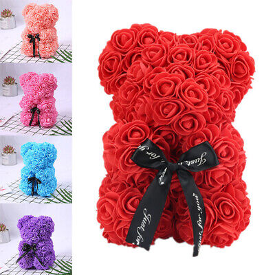 Romantice Rose Flower Teddy Bear Valentine Gift | Wedding Gifts + Free Gift Box