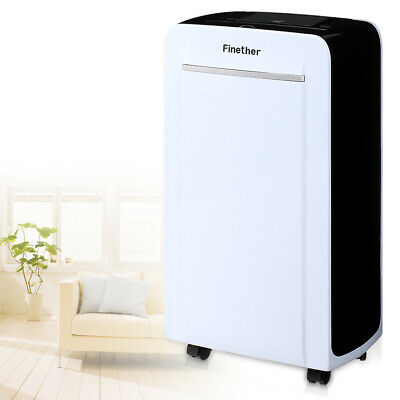 Finether Air Déshumidificateur 12L/D LCD Anion Air Purify Drying Defrost Timer