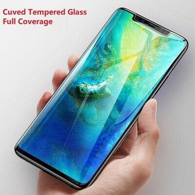 For Huawei Mate 20 Pro Curved Tempered Glass Screen Protector Full Cover Clear
