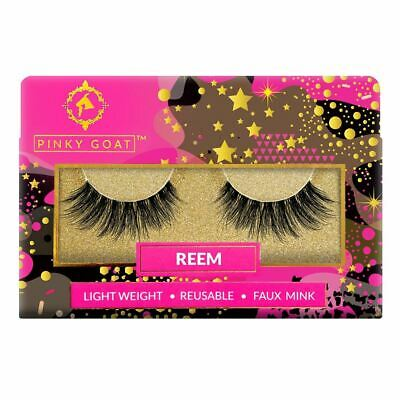 Pinky Goat Mink False Eyelashes - Reem